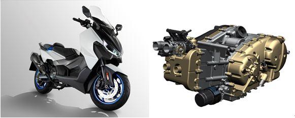 首次採用465cc DOHC水冷雙缸引擎,最大馬力為39ps/6500〜7750rpm產生